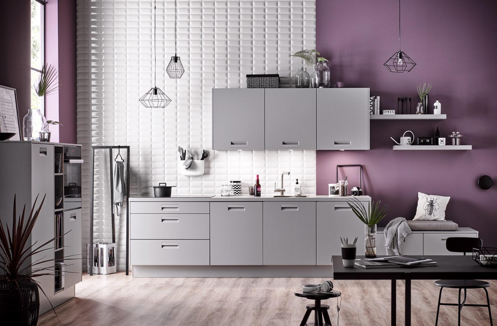 Cuisine Blanc Gris Violet cuisines modernes chez cuisines avenues à cholet, rennes et